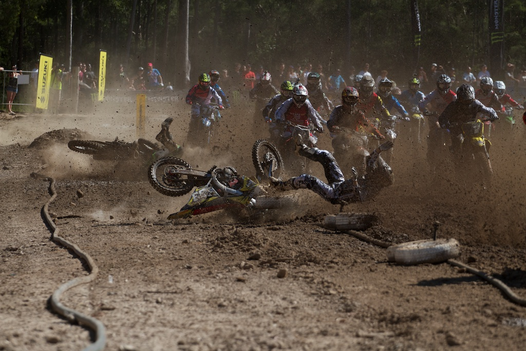 MX2 First Turn Carnage at MX Nationals Opener