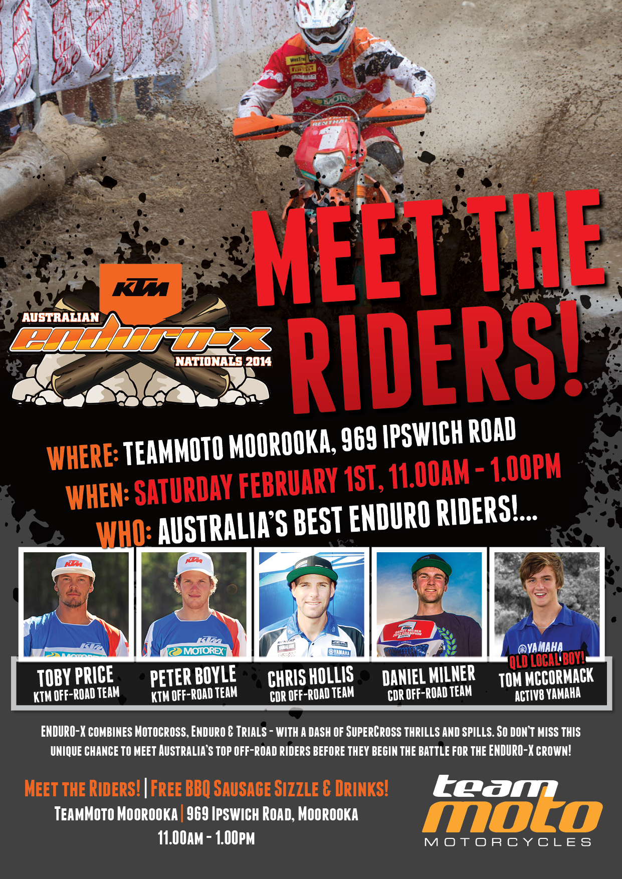 Enduro-X Meet the Riders Poster FINAL