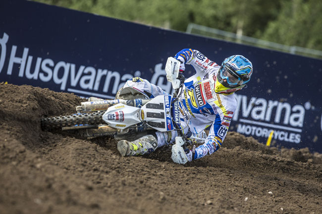 Dean Ferris in action for the Wilvo Nestaan Husqvarna team