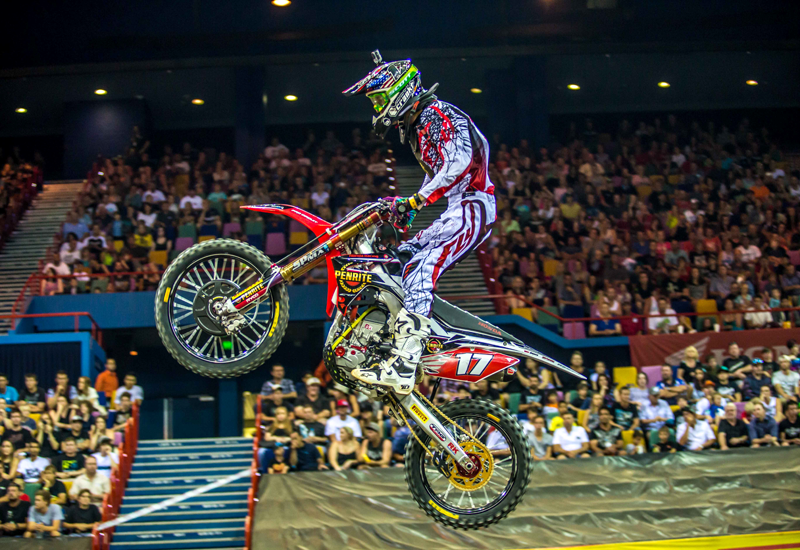 Gavin Faith action Australian SX2 2014 Photo Marc Jones Photography