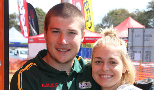 KTMs Matthew Phillips pictured with girlfriend Catherine Photo. Allison Murfett