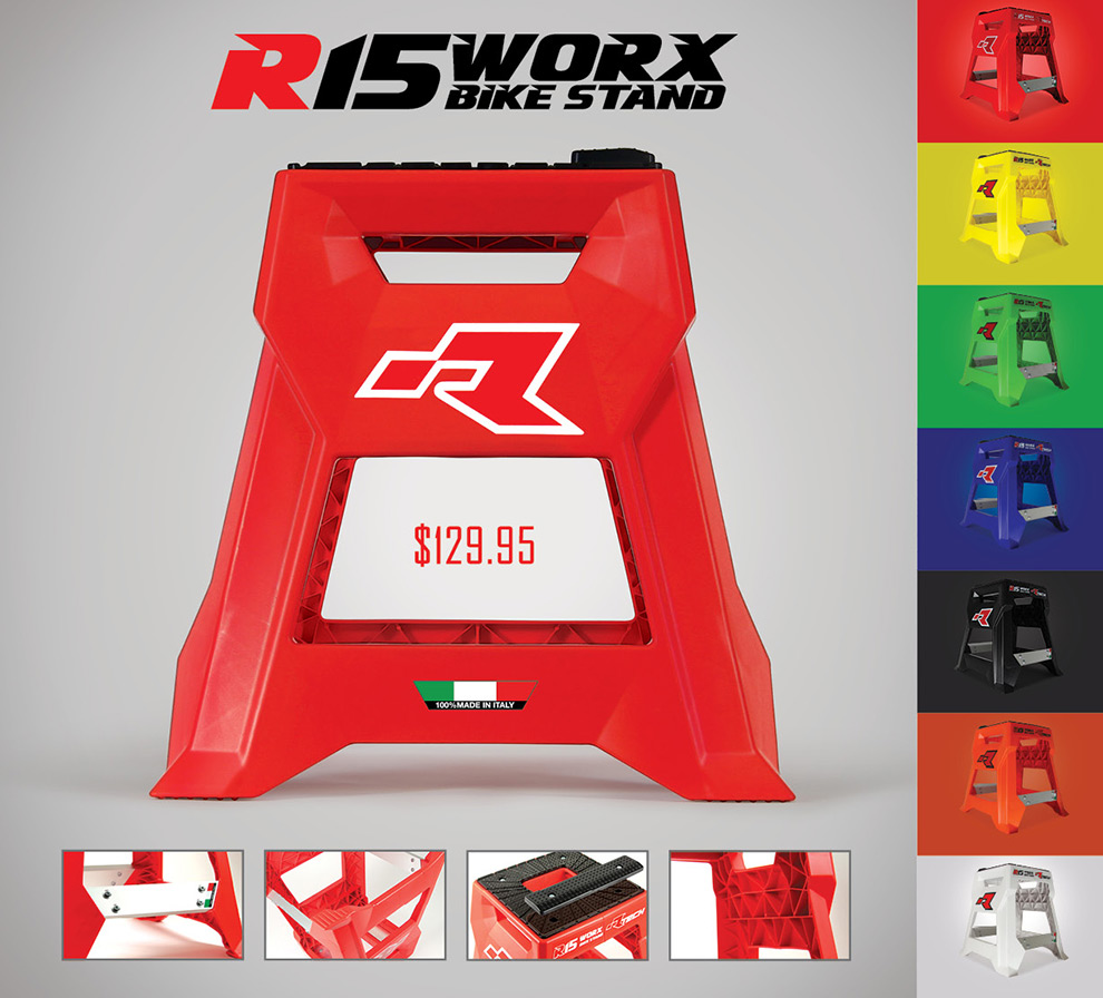 All new Rtech R15 Worx Bike Stand from John Titman Racing