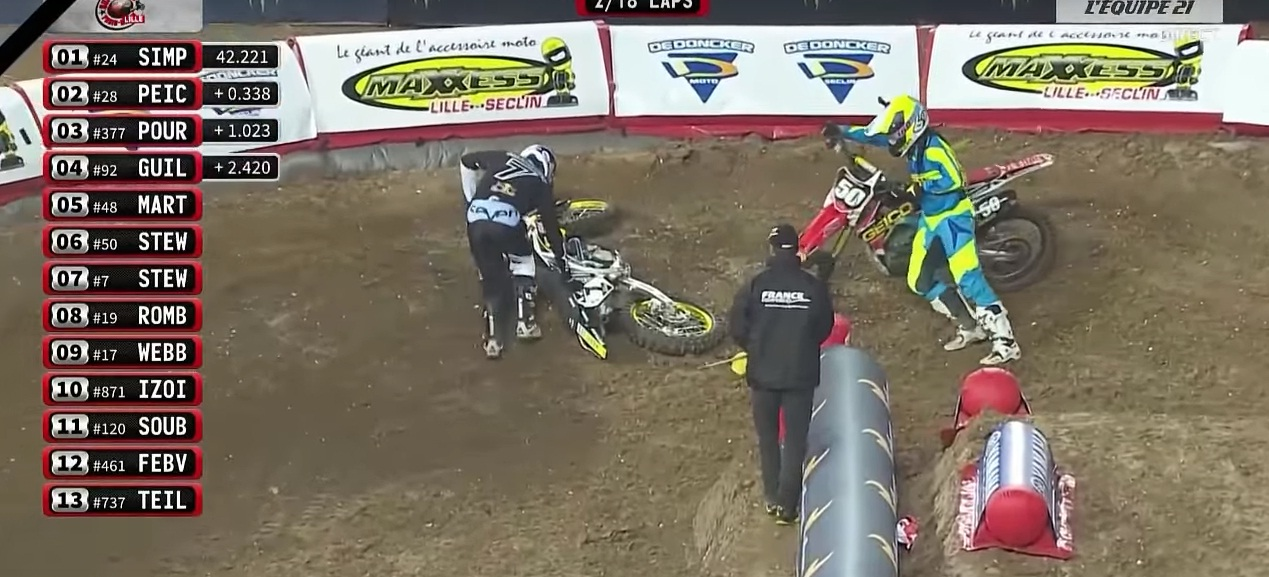 James Stewart crashed out of Bercy-Lille