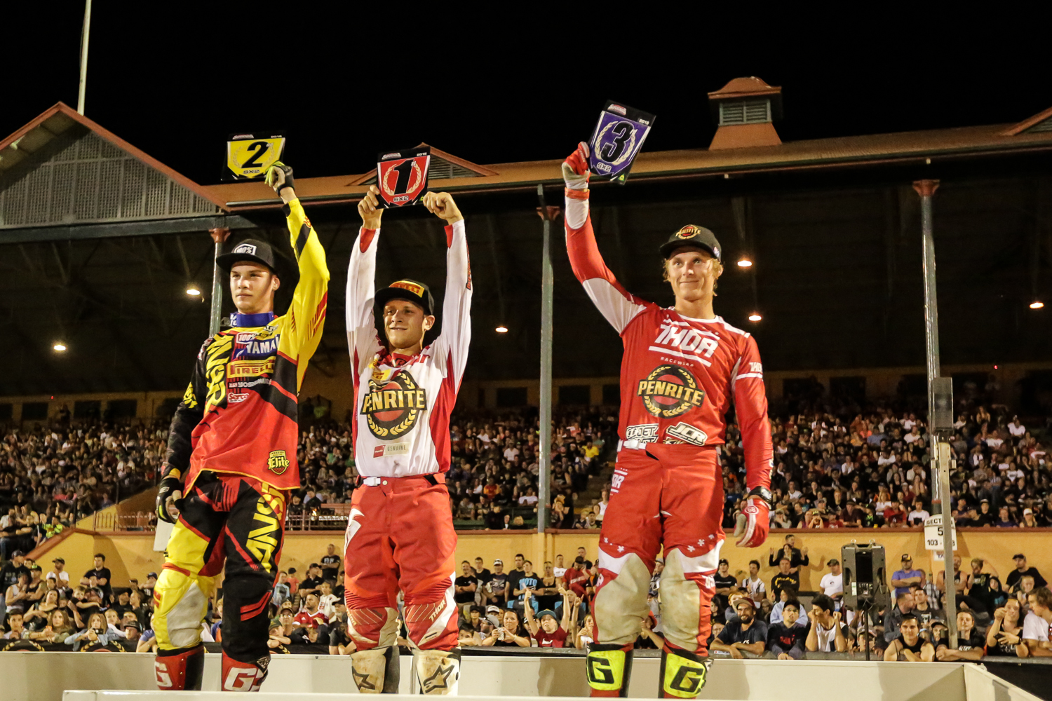 Richardson Stands on the SX2 podium alongside Clout and Decotis FifitySix Clix