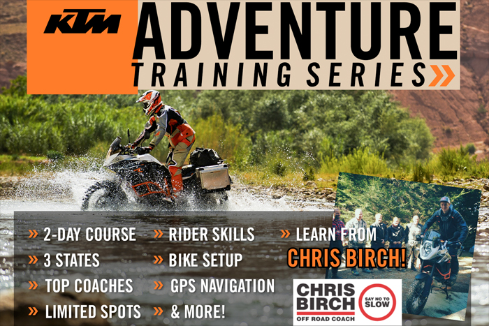 KTM ADVENTURE RIDER TRAINING WITH CHRIS BIRCH