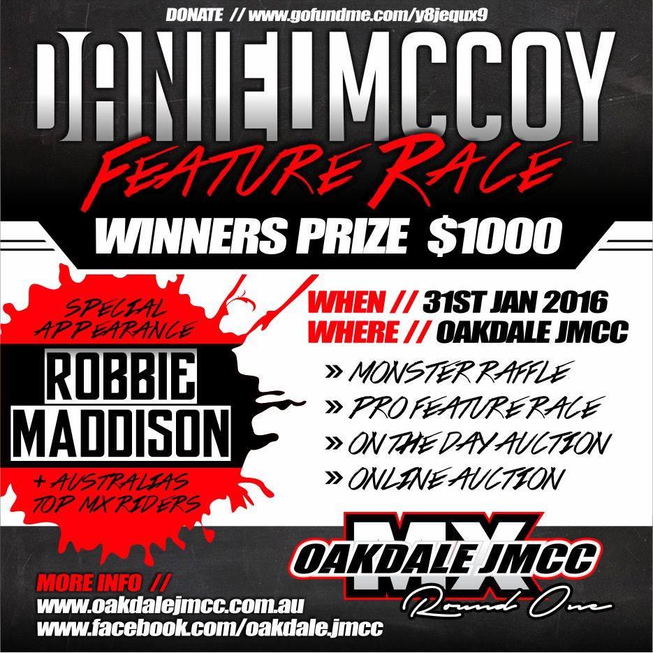 Oakdale To Host Daniel McCoy Fundraiser