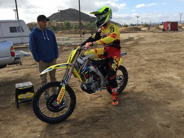 Luke Clout Testing his new RM-Z250 | Photo:  FiftySix Clix