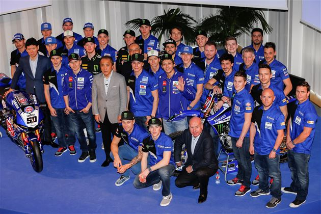 Yamaha officials with the 2016 riders