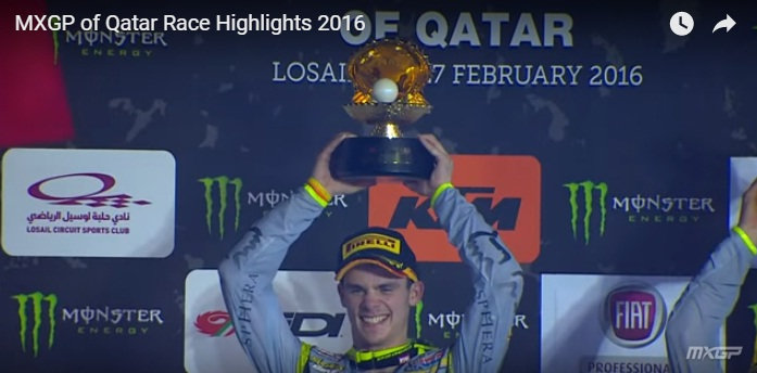 Tim Gajser wins the Qatar MXGP