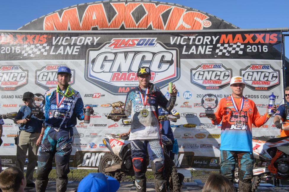 GNCC Round one podium