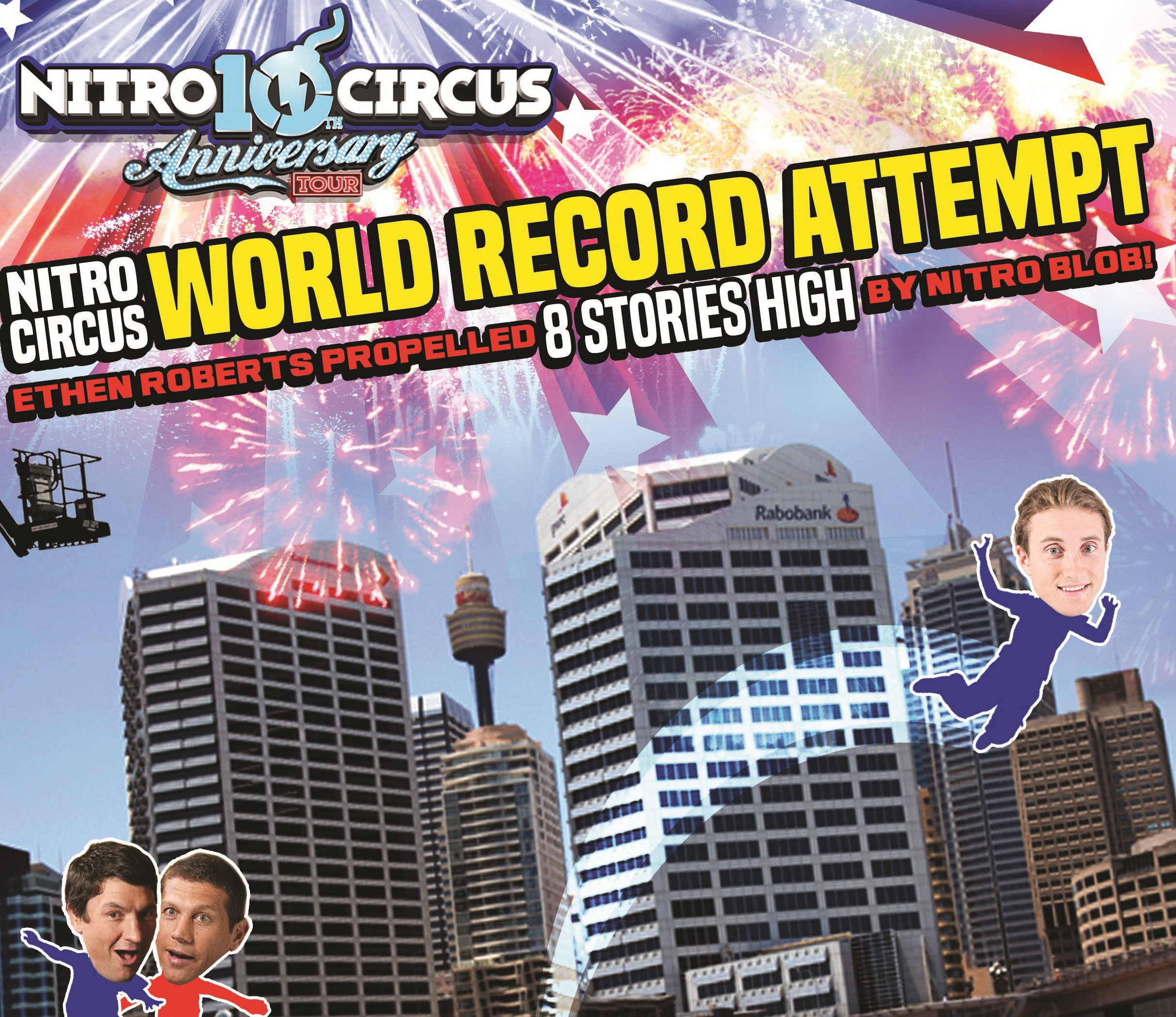 BRYAN FLETCHER AND NATHAN HINDMARSH SET TO MAKE A SPLASH WITH NITROCIRCUS LIVE WORLD RECORD ATTEMPT