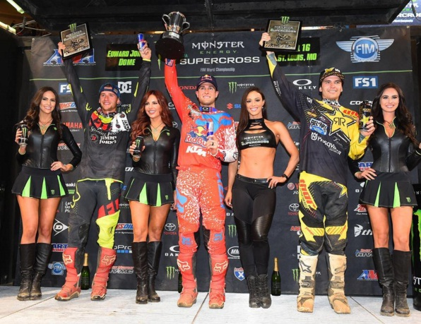 450SX podium | Photo credit: Cudby