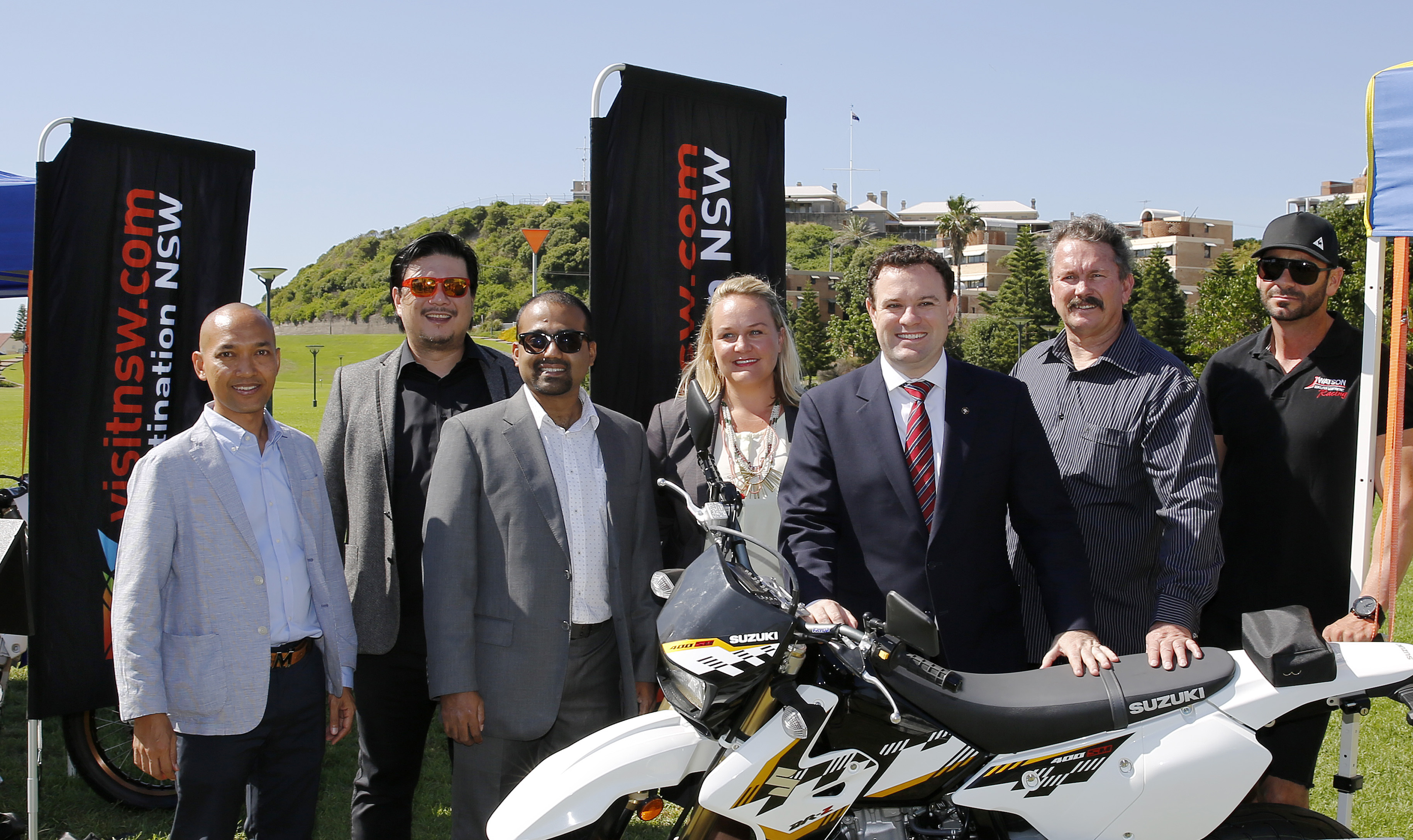 2016 Supermoto launch at Newcastle foreshore park.