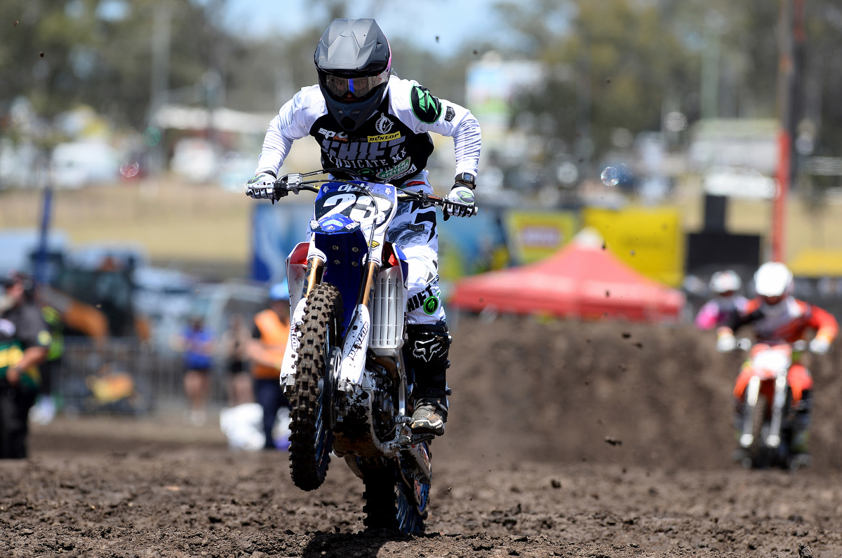 Wade Hunter / Yamaha  3rd - overall 2015 Round 2 / Class : SX2 Australian Supercross Championship Jimboomba QLD 17th October 2015 © Sport the library / Jeff Crow