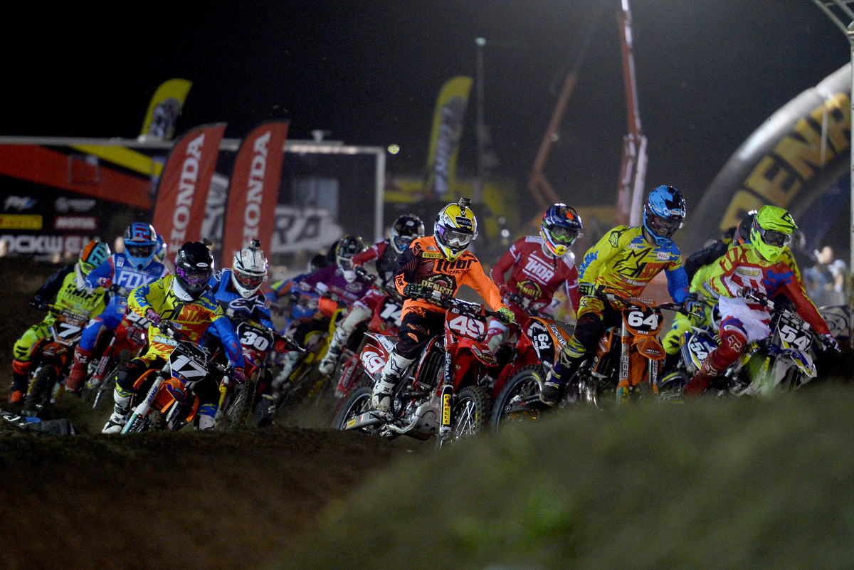 Sx2 - starting action 2015 Round 2 / Class : SX2 Australian Supercross Championship Jimboomba QLD 17th October 2015 © Sport the library / Jeff Crow