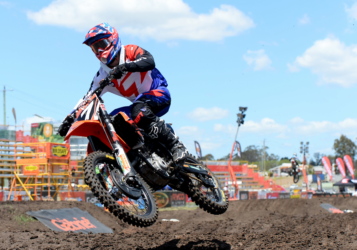 Jack Simpson / KTM 2015 Round 2 / Class : SX2 Australian Supercross Championship Jimboomba QLD 17th October 2015 © Sport the library / Jeff Crow