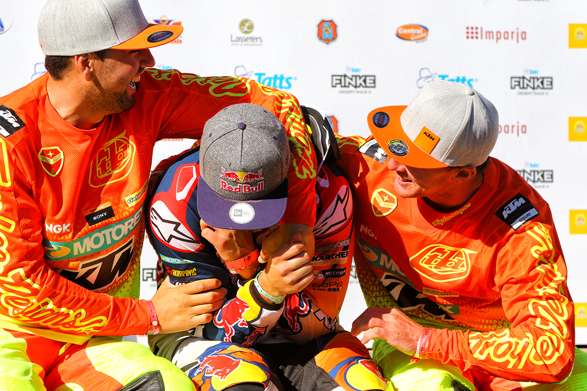 It was a Finke KTM trifecta | Photo credit: Ashenhurst