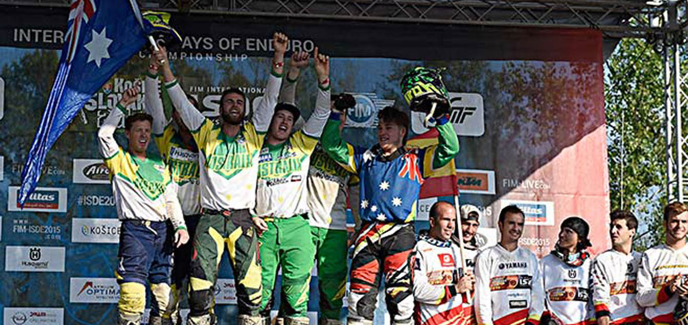 2015 ISDE teams awarded World Trophies at AORC