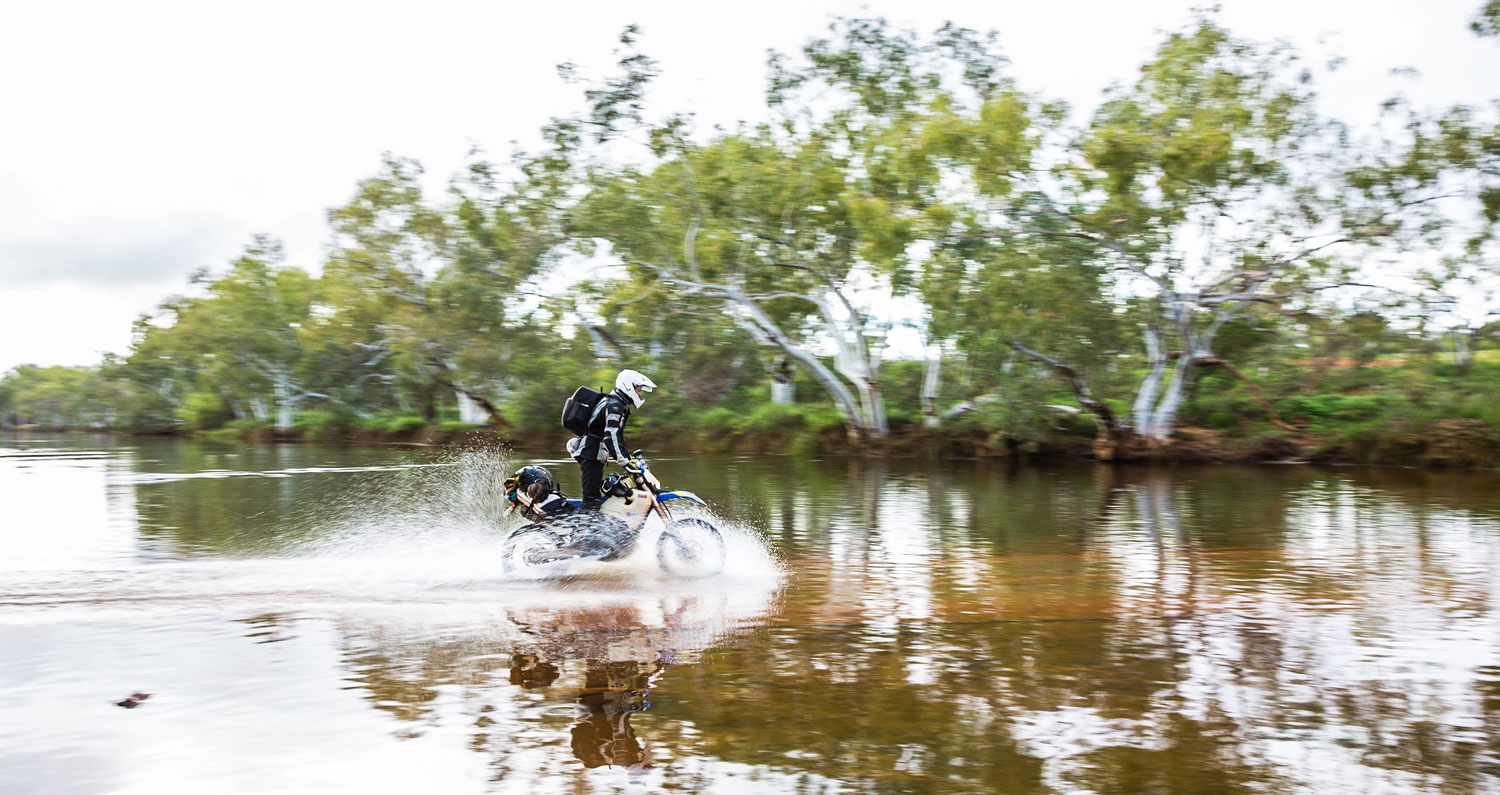 Alex and Josh are crossing the Lyons River, 80kms north of Gascoyne Junction. Tomorrow they head on to Gibb River Road.