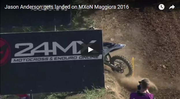 Jason Anderson Crash MXoN