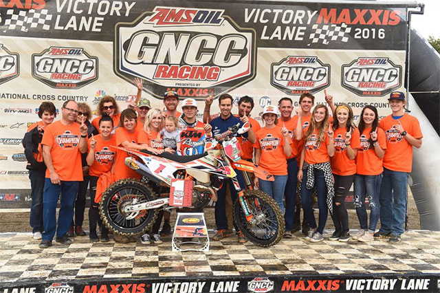 Russell Claims Fourth Consecutive GNCC Championship