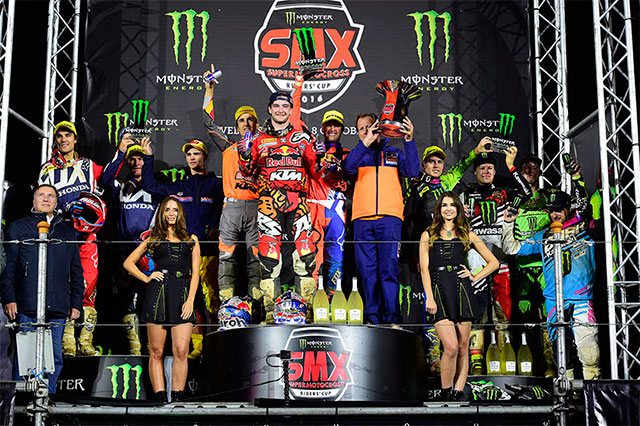 KTM podium