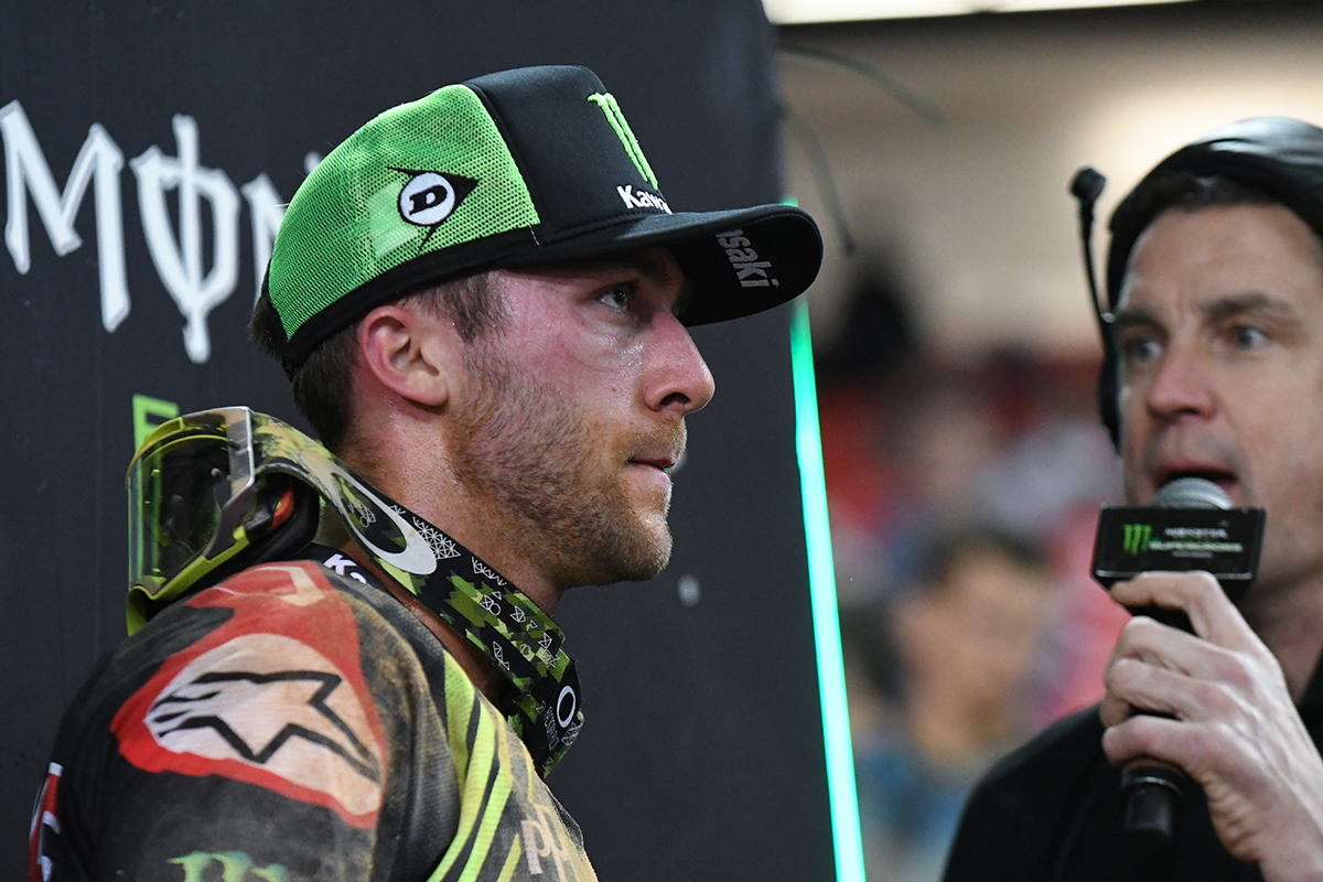 Eli Tomac - Monster Energy Kawasaki had a good ride with a 2nd place finish in the Main Event  of the 2017 Monster Energy Supercross event in Atlanta.