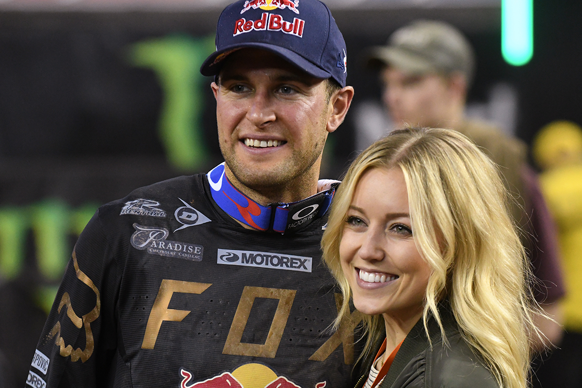The Dungey family was all smiles after the Main Event  of the 2017 Monster Energy Supercross event in Atlanta.