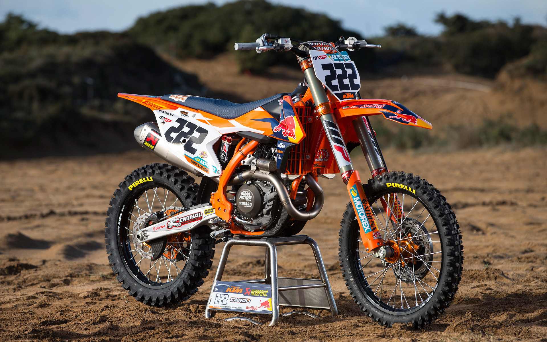 photo gallery antonio cairoli s red bull ktm450sxf   dirt