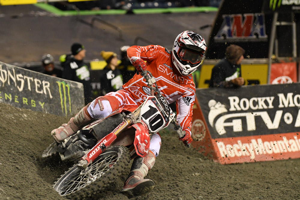 Justin Brayton - Smarttop/MotoConcepts Honda at the Seattle Monster Energy Supercross.