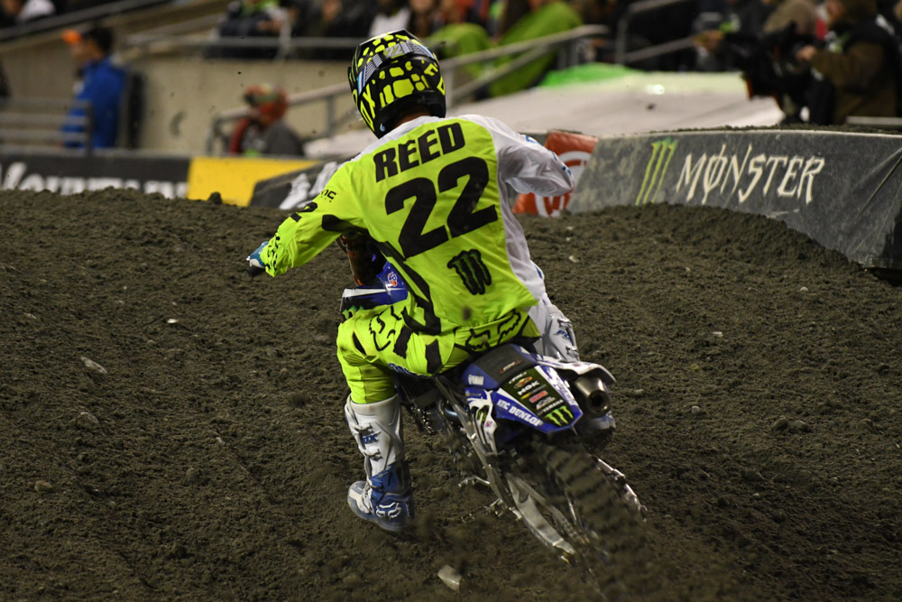 Chad Reed - Monster Energy Factory Yamaha at the Seattle Monster Energy Supercross.