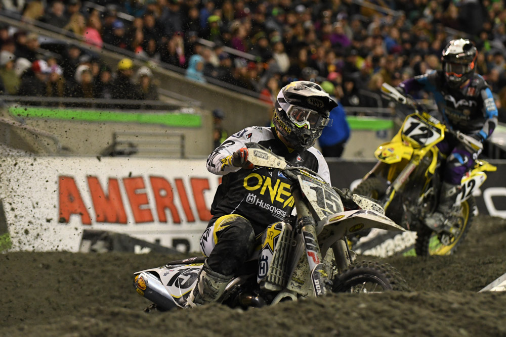 Dean Wilson - Rockstar Energy Husqvarna Factory Racing at the Seattle Monster Energy Supercross.