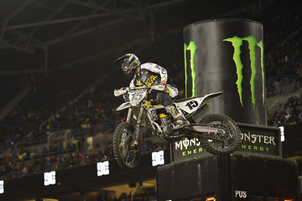 Dean Wilson - Rockstar Energy Husqvarna Factory Racing had a top 10 finish at the Seattle Monster Energy Supercross.