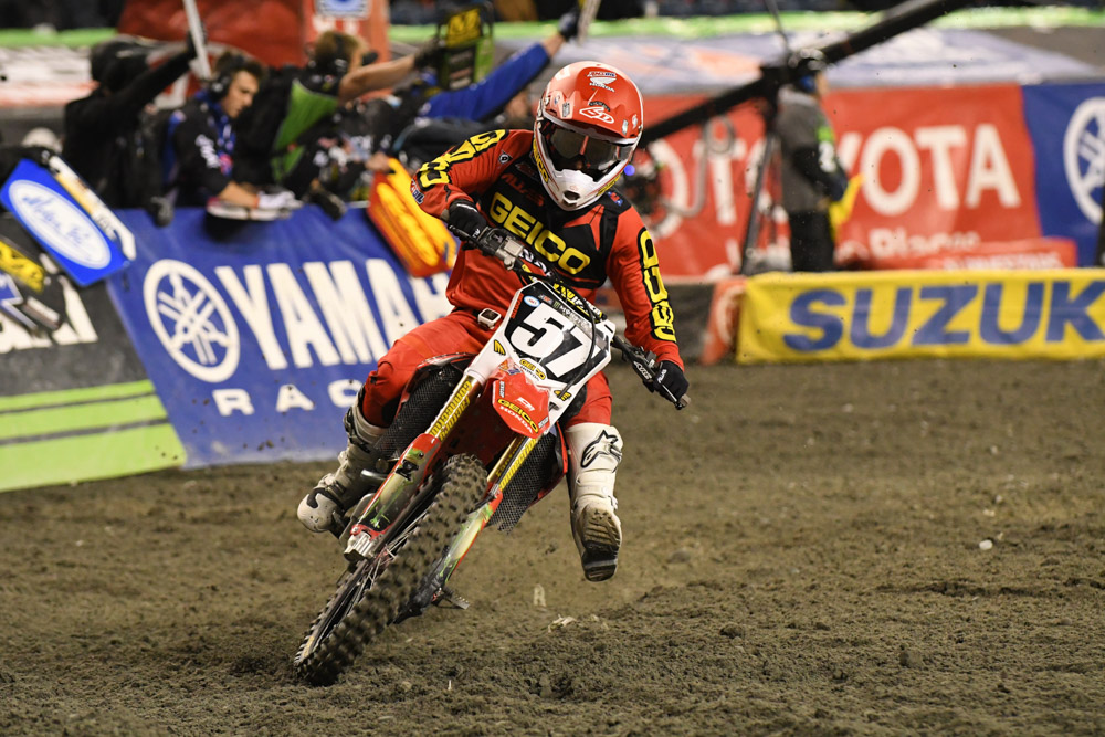 James Decotis - GEICO Honda at the Seattle Monster Energy Supercross.