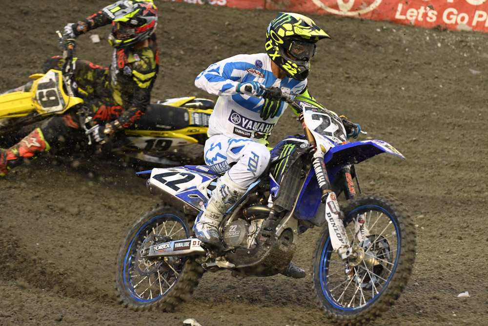 Chad Reed - Monster Energy Factory Yamaha had a good night with a 9th place at the Seattle Monster Energy Supercross.