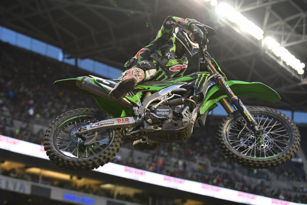 Eli Tomac - Monster Energy Kawasaki at the Seattle Monster Energy Supercross.