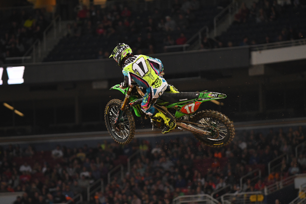 Joey Savatgy - Monster Energy Pro Circuit Kawasaki flies to a very solid 2nd place in the 250SX East at the St Louis Monster Energy Supercross.