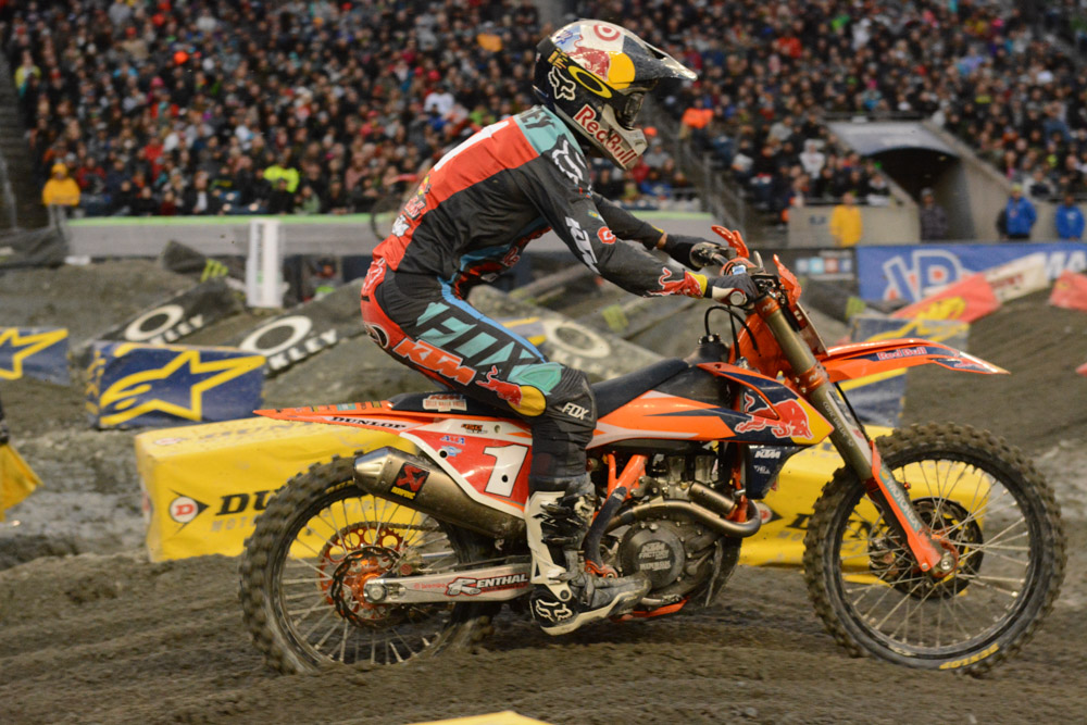 Ryan Dungey - Red Bull KTM pushed his KTM to the limits at the Seattle Monster Energy Supercross.