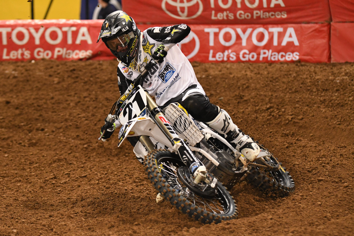 Jason Anderson - Rockstar Energy Husqvarna Factory Racing finished well with a 4th place finish at the St Louis Monster Energy Supercross.