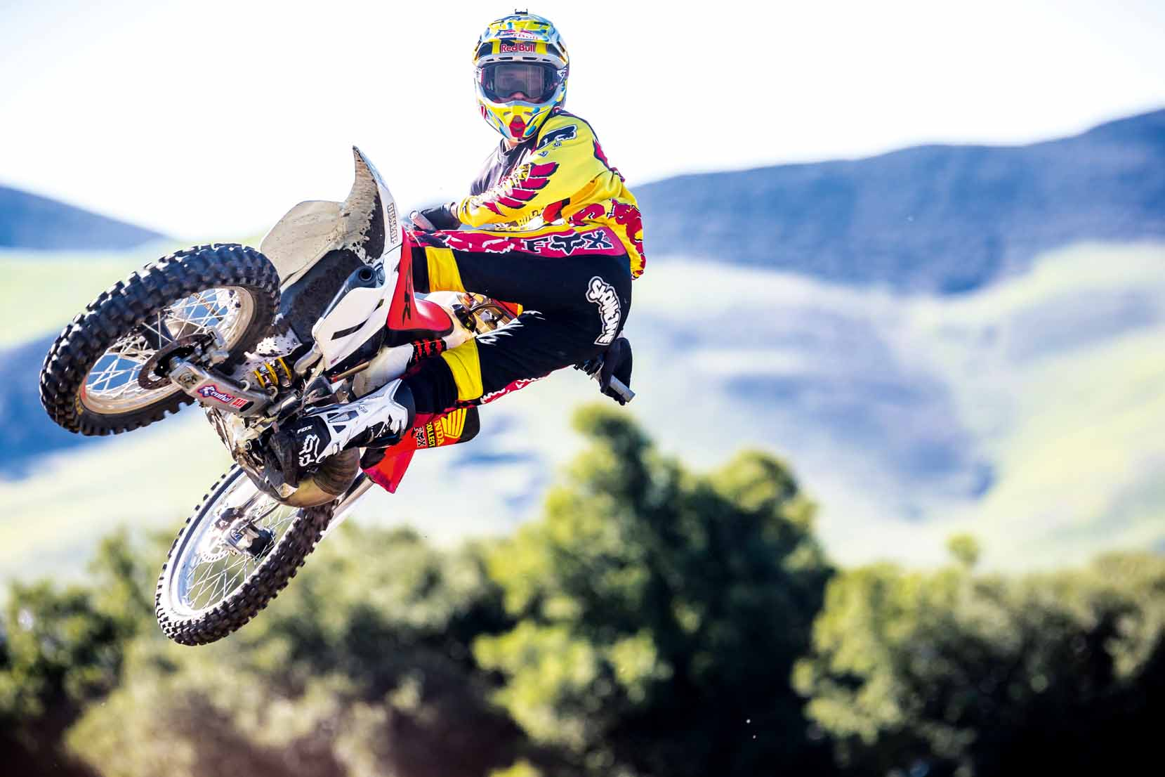 Ken Roczen rides Jeremy McGrath's 1996 Honda CR250R during a video shoot recreating segments from the original Terra Firma 2 motocross video at Castillo Ranch in Los Alamos, California, USA on 28 December 2016. // Garth Milan/Red Bull Content Pool // P-20170109-01472 // Usage for editorial use only // Please go to www.redbullcontentpool.com for further information. //
