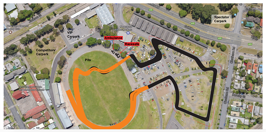Proposed Track for Newcastle Showground