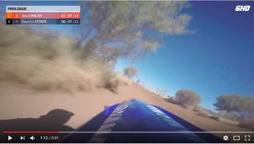 VIDEO: FINKE DESERT RACE WINNER DAYMON STOKIE'S PROLOGUE LAP
