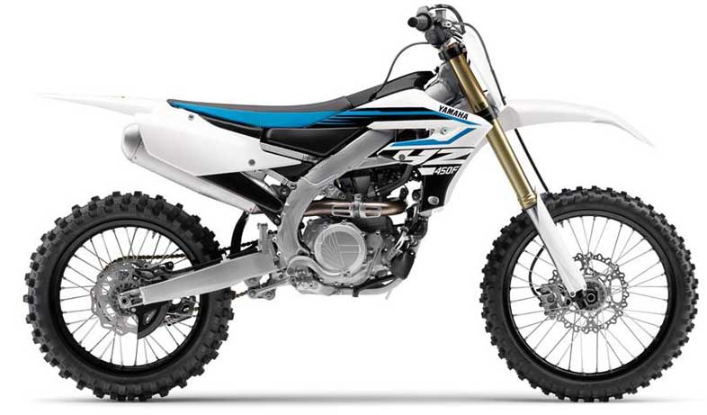 2018 Yamaha YZ450F and YZ250F available in white