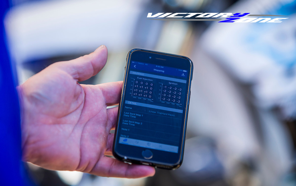 VICTORY ZONE: TUNE YOUR 2018 YZ450F VIA SMARTPHONE