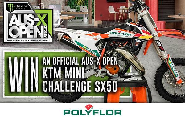 WIN A KTM50SX AT AUS X OPEN
