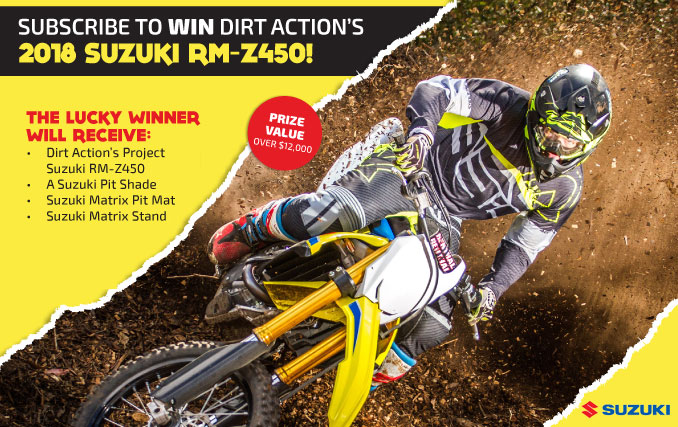 Subscribe to WIN Dirt Action's 2018 Suzuki RM-Z450!
